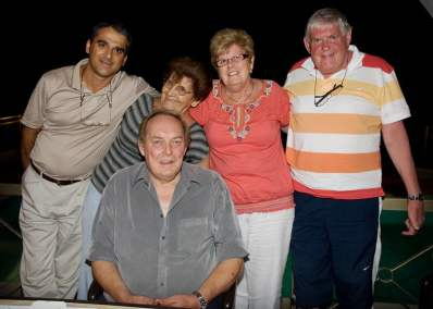 Me with David, Christina and friends, during our 2009 visit to Cyprus