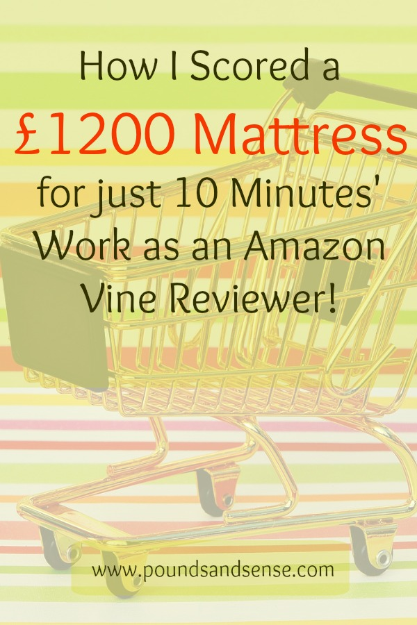 How I scored a £1200 mattress as an Amazon Vine reviewer!