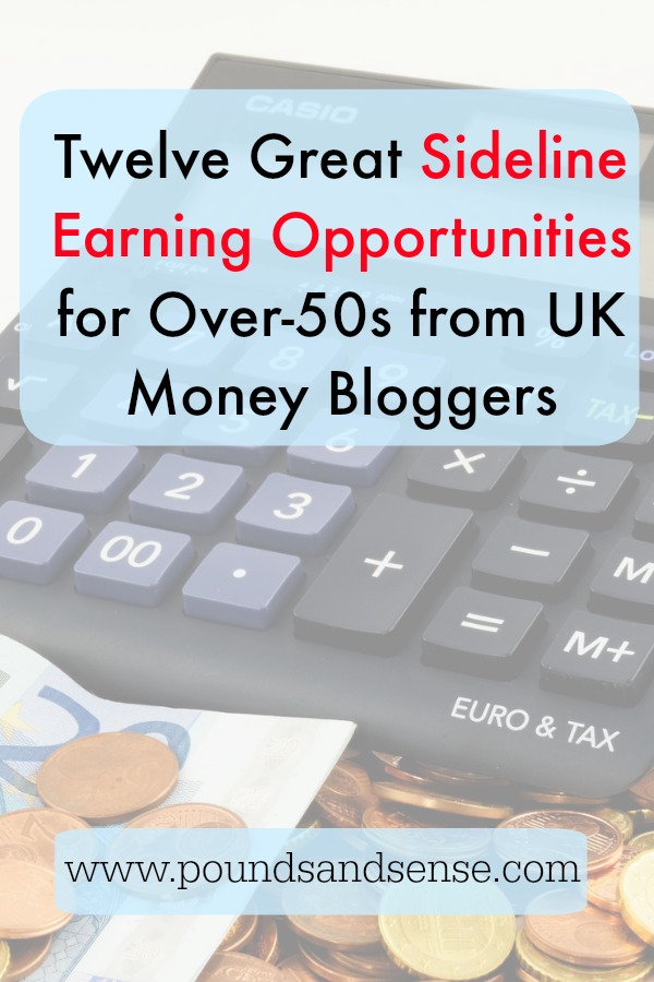 12 Great Sideline-Earning Opportunities for Over 50s from UK Money Bloggers