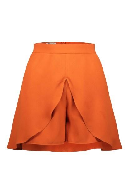 Poupine minigonna-pantaloncino arancio