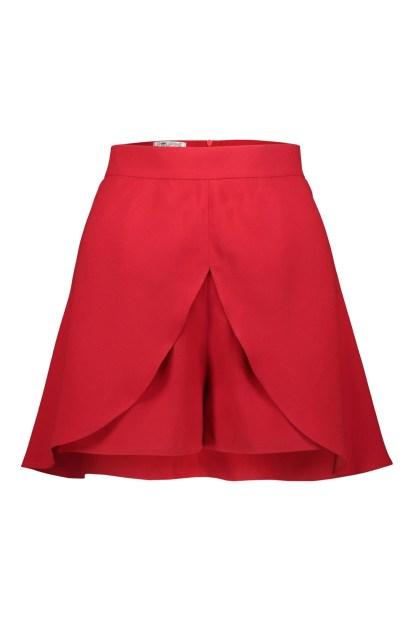 Poupine minigonna-pantaloncino rosso