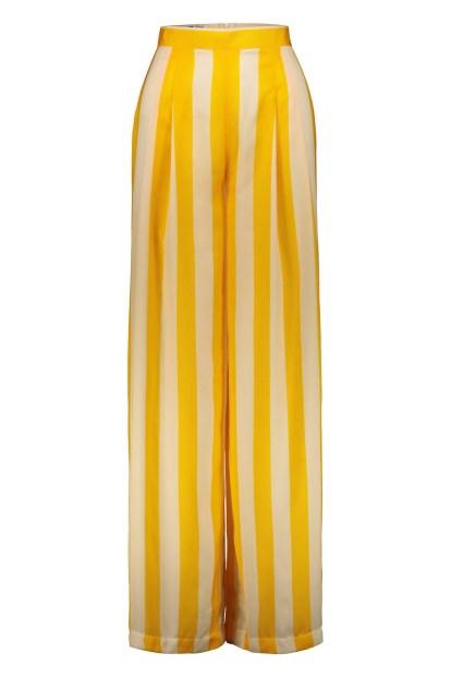 Poupine - Pantaloni riga gialla