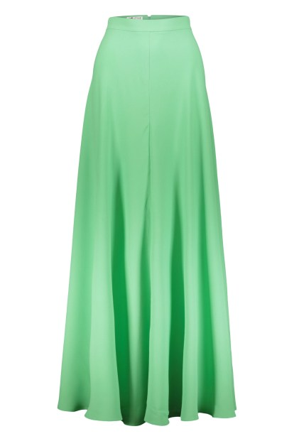 Poupine green flared skirt