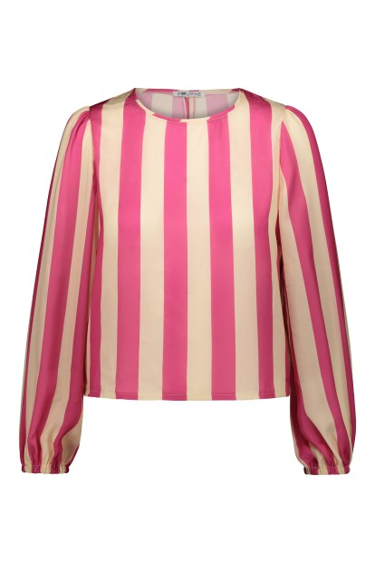 Poupine Striped Top fucsia