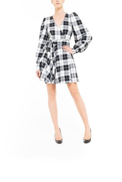 Black and white Mini plaid dress