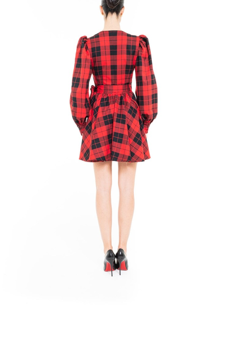 Vestito mini tartan Rosso e Nero