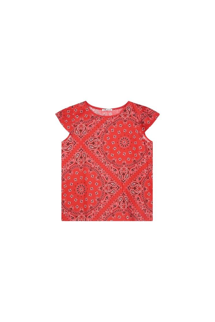 Top – bandana rossa Poupine