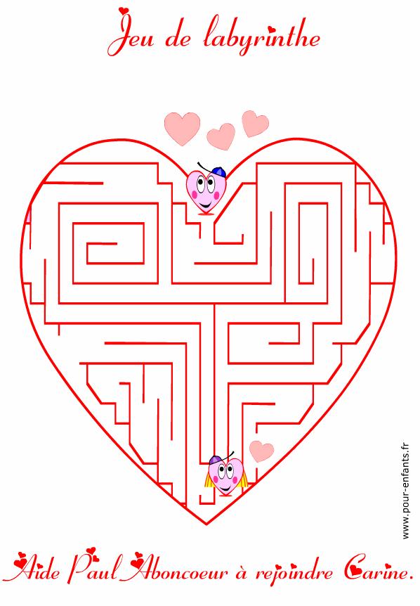 Jeux De Labyrinthe Saint Valentin Jeu De Labyrinthe
