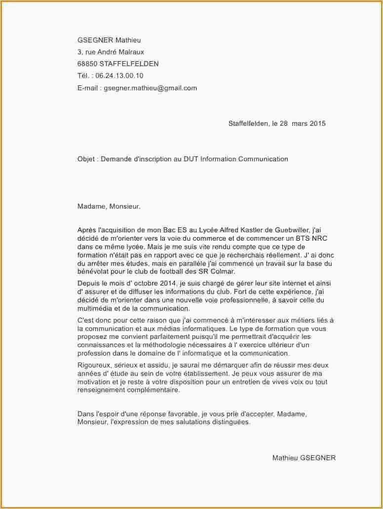 Lettre De Motivation Bts assistant De Gestion Bts Ag