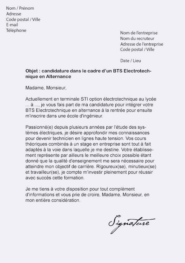 Lettre De Motivation Bts Muc Initial Lettre De Motivation