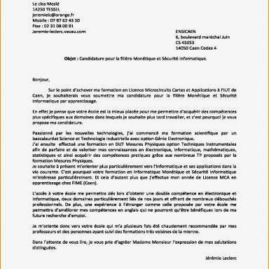 40 Lettre De Motivation Conducteur De Travaux