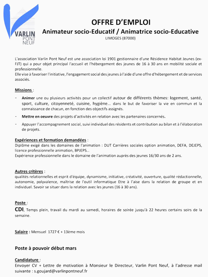 Lettre De Motivation Licence Chimie Exemple Cv Animateur Bafa Dans Exemple Lettre De Motivation Bafa
