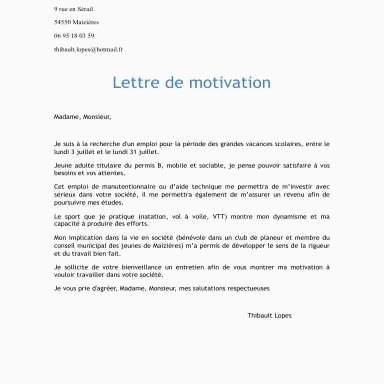 Lettre De Motivation Manutentionnaire Avancée Lettre De Motivation Hotesse De Caisse Exemple 16 Décent