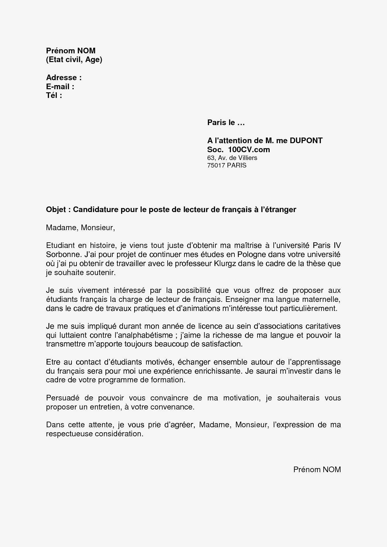 Lettre De Motivation Ong Exemple Lettre De Motivation Stage