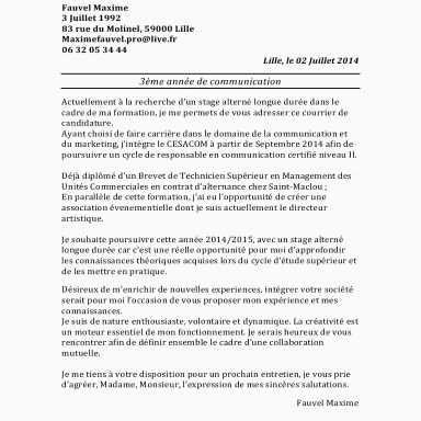 Lettre De Motivation Stage 3eme Commerce Acceptable Lettre De Motivation Stage 3eme Magasin De Vetement