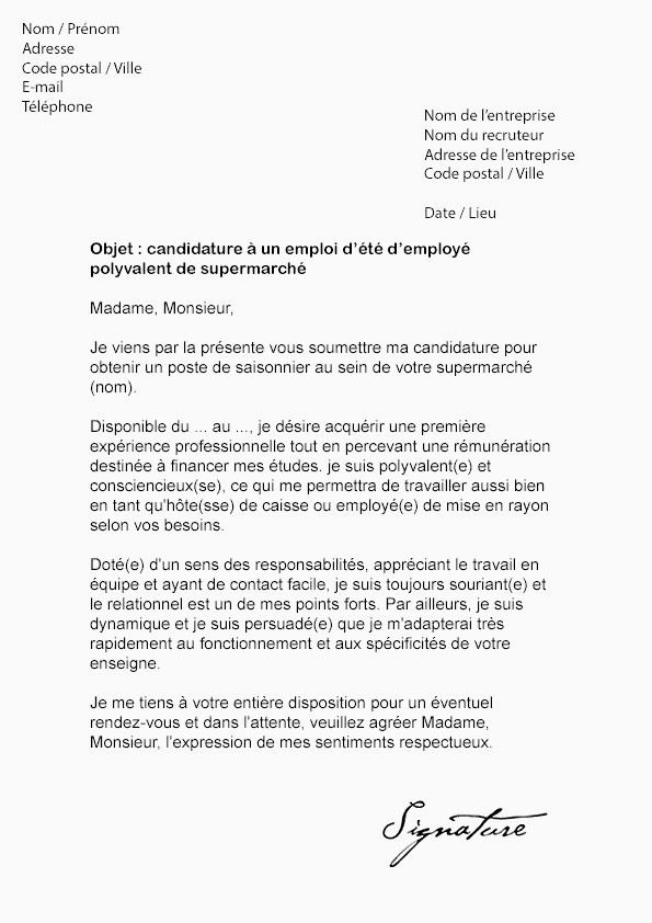 Lettre De Motivation Stage 3eme Commerce Lettre De D Mission