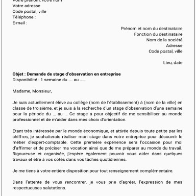 Stage Immersion En Entreprise Pole Emploi Excellent Lettre De Motivation Stage D Immersion Pole Emploi Lettre
