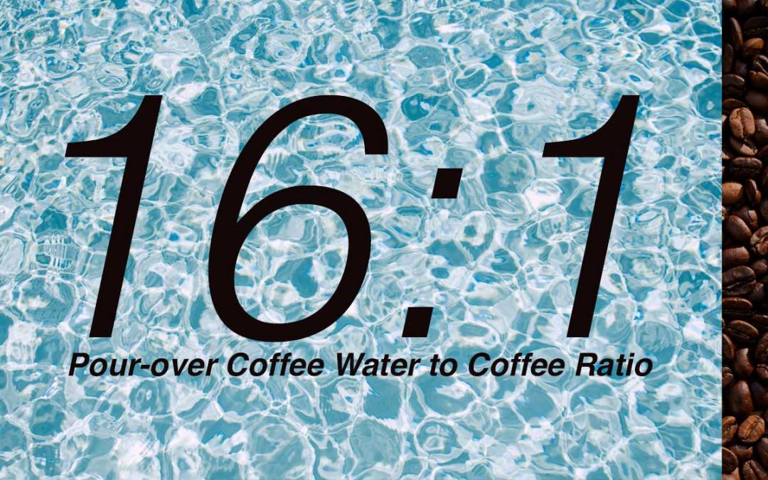 Water to Coffee Ratio for Pour-over Coffee Brewing