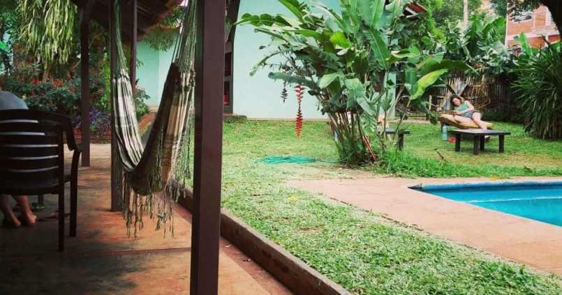 Notre auberge de jeunesse à Puerto Iguazu. #40degresausoleil 1