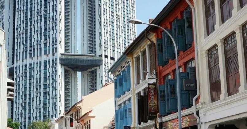Coexistence entre l'ancien et le vieux, bienvenue à Singapour 1