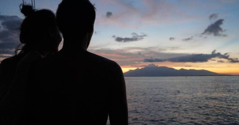 Coucher de soleil sur le Rinjani, on termine comme on a commencé ces 50 jours en Indonésie, riches en retrouvailles et bons moments de rigolades :) 1