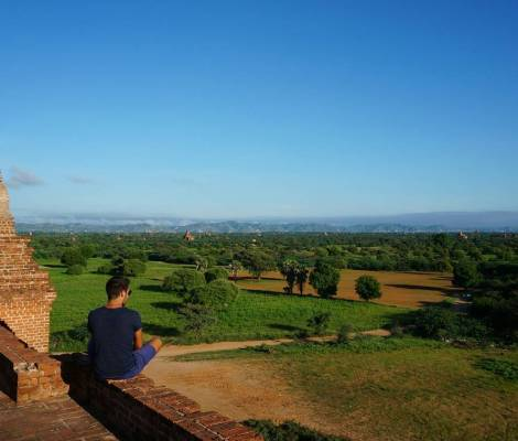 Magnifique lever de soleil à Bagan. 9