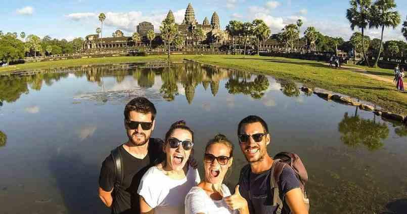 Angkor avec les copains, c'est encore mieux 😍 1