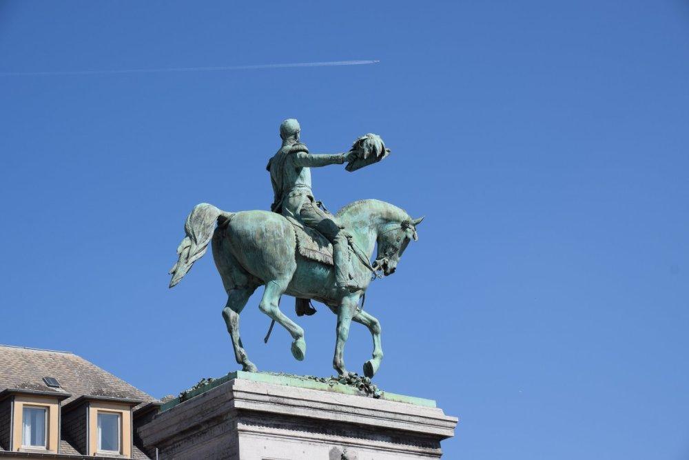 Guillaume II saluant le pilote