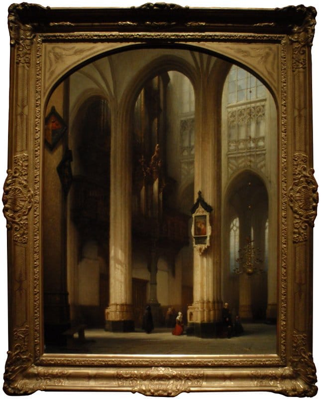 Interior of St-John's - Johannes Bosboom - 1840.