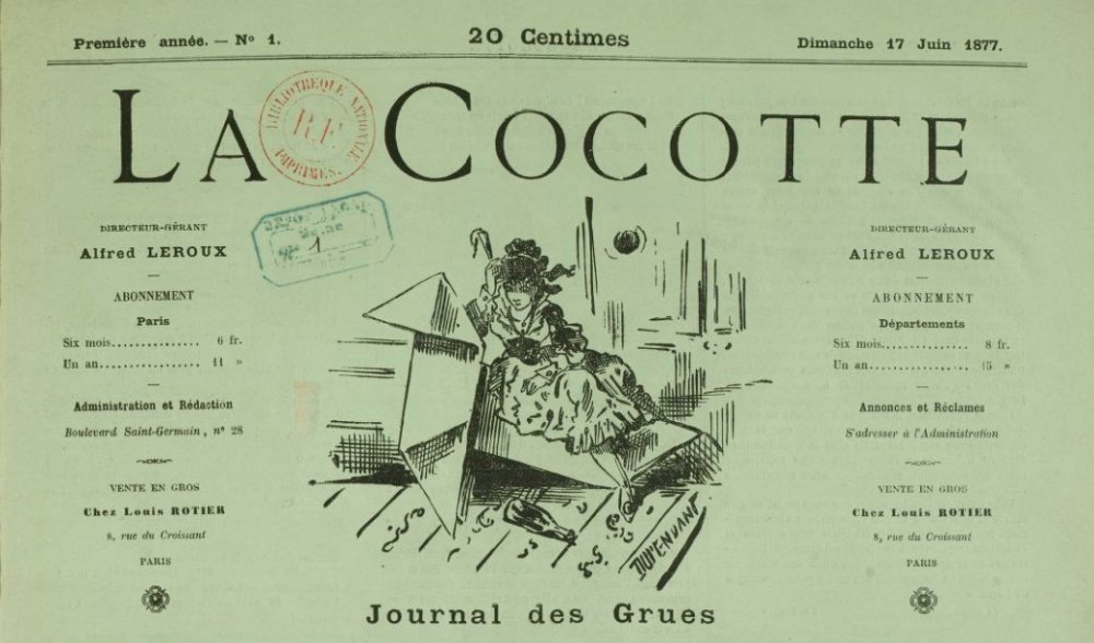 La cocotte - journal des Grues - Gallica/BNF