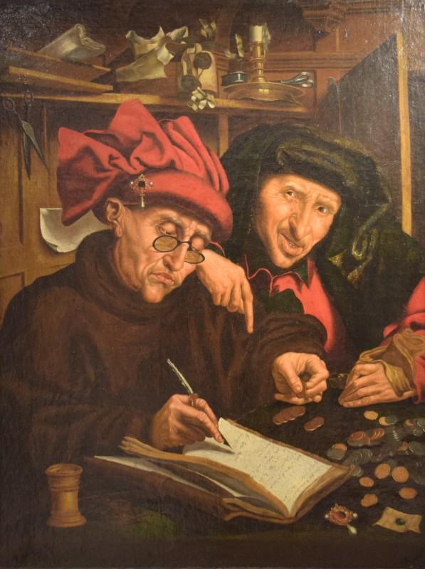 Le changeur - Marinus van Reymerswaele (1490-1546) - MNHA Luxembourg