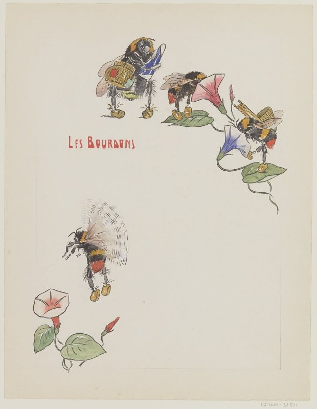 Les bourdons - Georges Jordic-Pignon dit Jordic - 1914