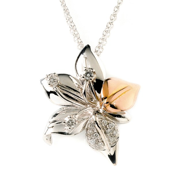 BOFDG3_White_Pink_Gold_Diamond_Flower_Pendant Top Jewelry Trends That will Amaze YOU!