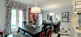 25 Elegant Black And White Dining Room Designs