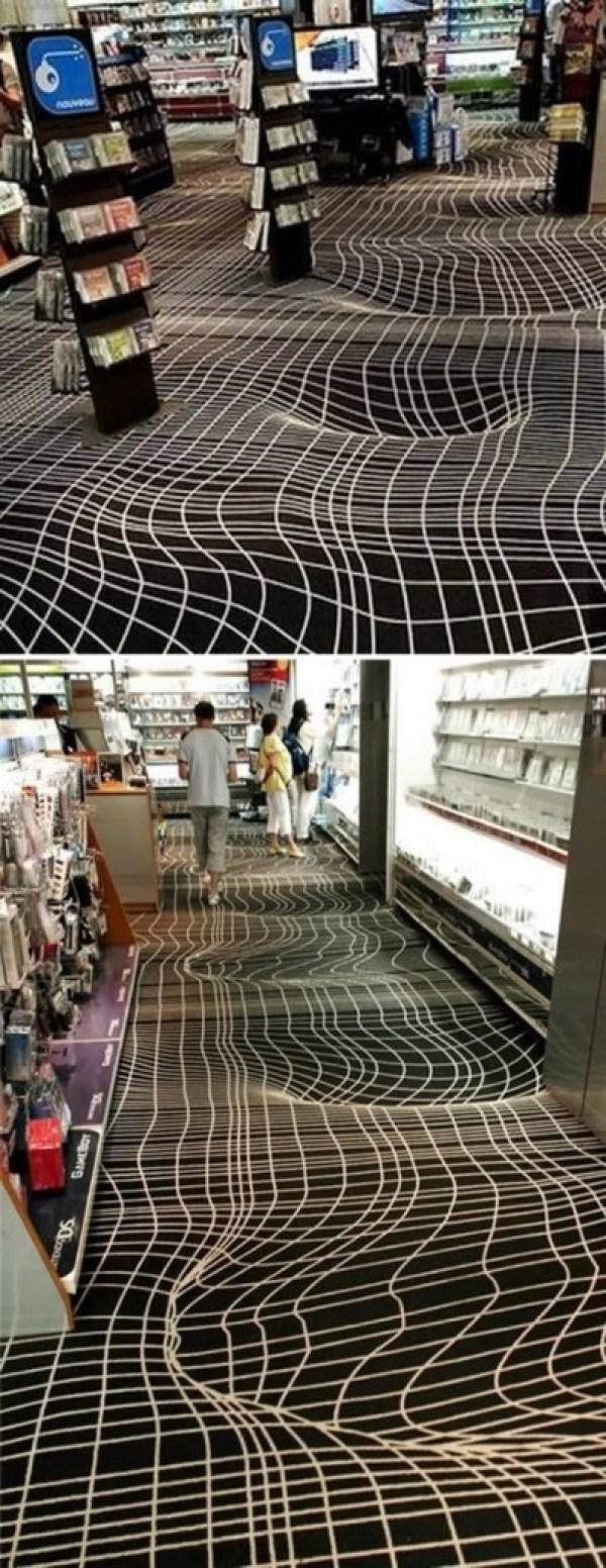 Optical-Illusion-Floor-carpet1. 10 Most Unique Flooring Designs For Exhibition