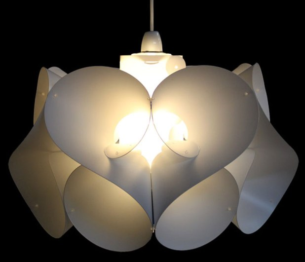 Romantic-Beautiful-Residential-and-Commercial-Interior-Lighting-Design-Pendant-Light-by-Kaigami-Swirl-Kaigami Get Your Home Looks Romantic By The Mood Of Lighting