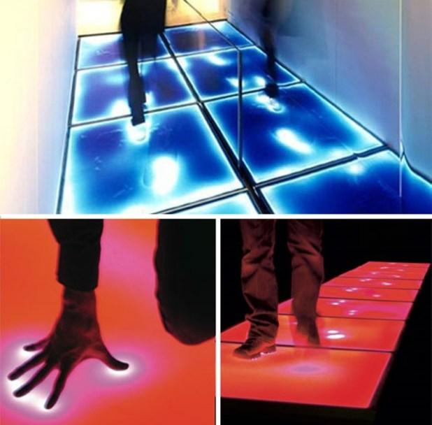 lightfader-Pressure-sensitive-illuminated-flooring-floor 10 Most Unique Flooring Designs For Exhibition