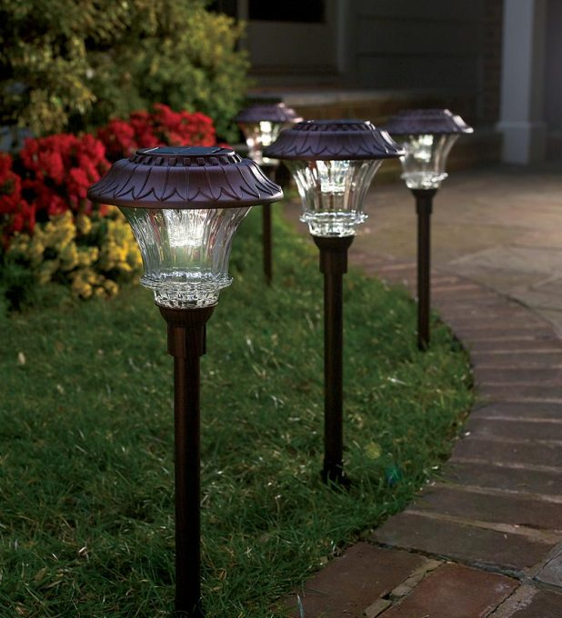 solar-path-lights-steel-glass LEDs 10 uses in Architecture