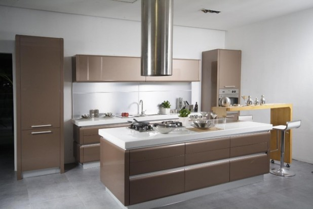 Incredible-Small-Modern-Kitchen 45 Elegant Cabinets For Remodeling Your Kitchen