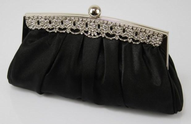 ladies-black-diamante-satin-party-clutch-evening-bag-clutch-bags-ideas-for-evening-party 50 Fabulous & Elegant Evening Handbags and Purses