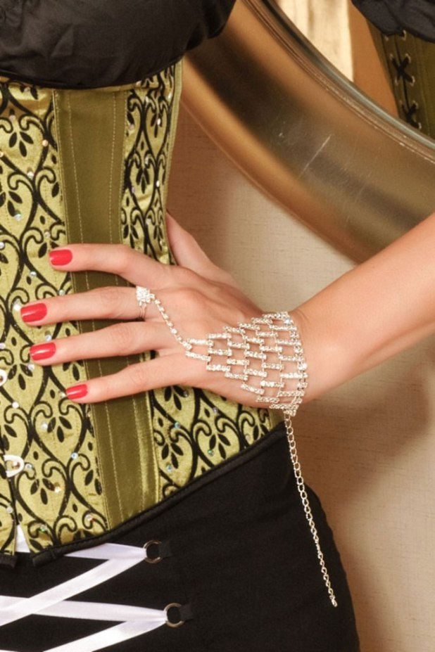 Block-Rhinestone-Bracelet Hottest Christmas Jewelry Trends 2015