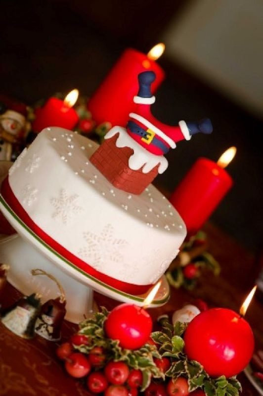 Christmas-Cake-Decoration-Ideas-2017-18 82 Mouthwatering Christmas Cake Decoration Ideas 2017