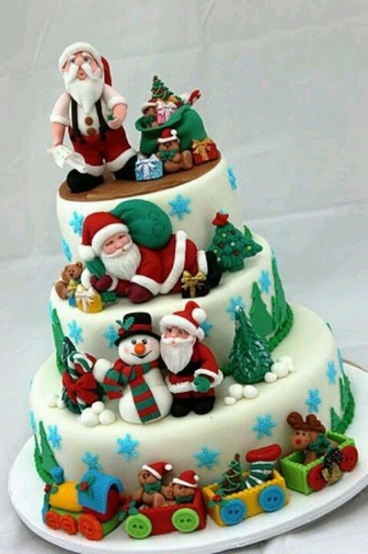 Christmas-Cake-Decoration-Ideas-2017-8 82 Mouthwatering Christmas Cake Decoration Ideas 2017
