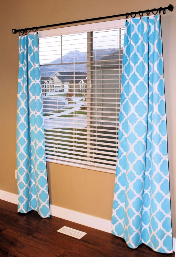 Stenciled-Curtains1 Easy And Creative Curtains Designs To DIY