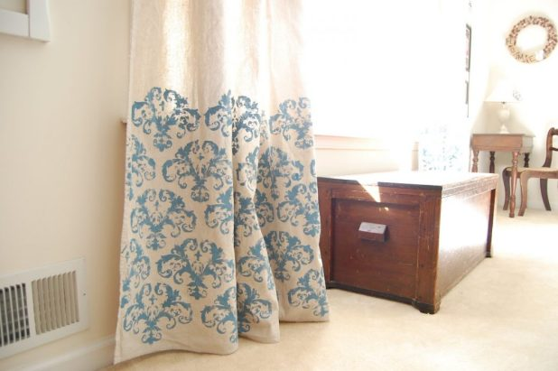 Stenciled-Curtains2 Easy And Creative Curtains Designs To DIY