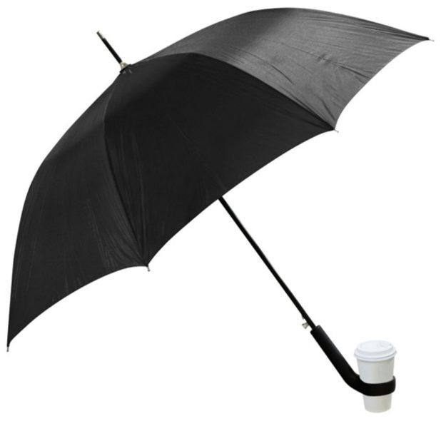 Coffee-Holder-Umbrella3 15 Unusual Designs For Umbrellas