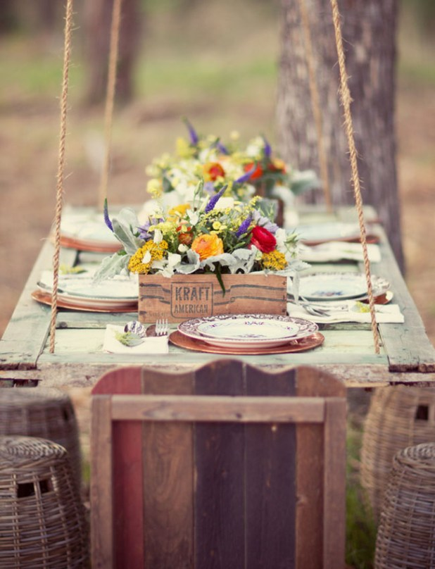 Hanging-Tables1 10 Best Ideas For Outdoor Weddings in 2017
