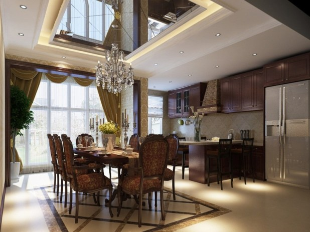 modern-dining-room-ceiling-design-tray-ceiling-in-dining-room-800x600-c315eb9d1d4e0189-675x506 6 Designs of Suspended Ceiling Decors for 2017