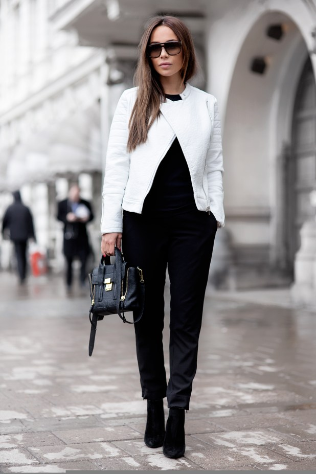 Leather-Jacket-and-Slacks-675x1013 18 Work Outfits Every Working Woman Should Have