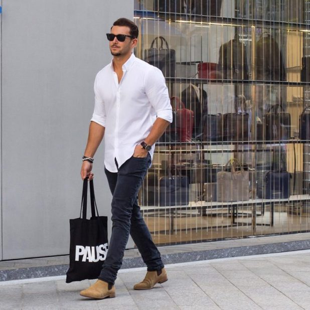 Skinny-jeans-with-a-classic-shirt-675x675 10 Most Stylish Outfits for Guys in Summer 2017